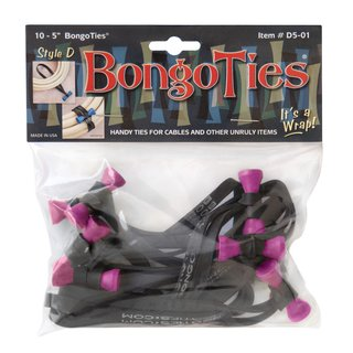 Bongo Ties im 10er Pack Style D Pink Flamingo - limited edition