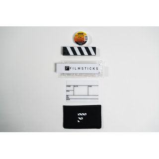 Filmsticks Clapperboards - Premium Quality Clapperboard Kits TINY - 15cm