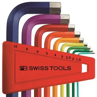PB Swiss Tools - Sechskant Stiftschlüssel Hexagonal Rainbow hex-key