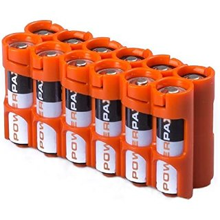 PowerPax 12 AA Battery Caddy - Orange