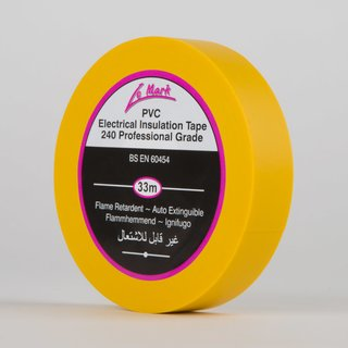 Le Mark PVC Tape 19mm x 33m yellow