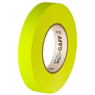Pro-Gaff Neon Tape yellow 24mm x 45.7m