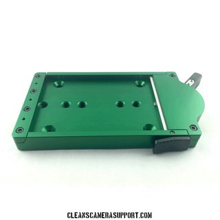 Cleans Camera Support Quick Release Base-Green