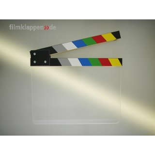Filmklappe Clear, color 28 x 23,5 cm