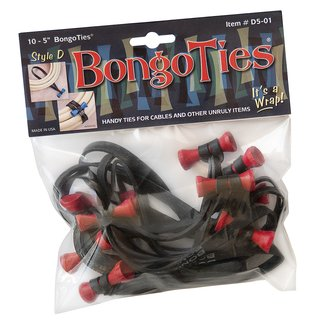 Bongo Ties im 10er Pack Style D rot